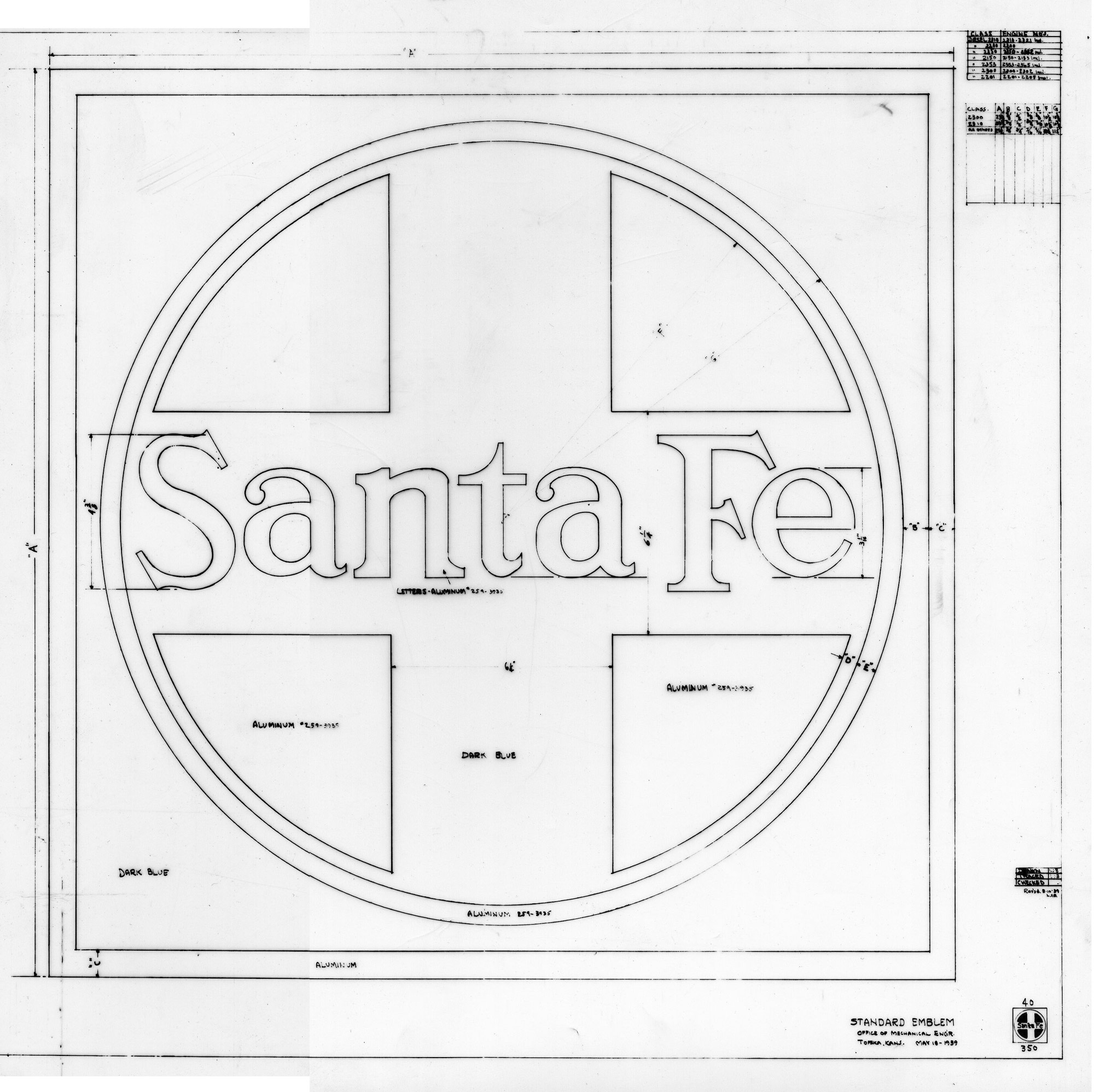 Santa Fe Links The Railway Historical And Modeling Society 2011 Engine Diagram Emblem 1939
